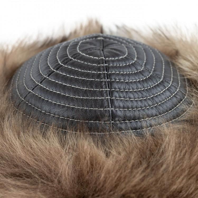 Oğuz Kağan Deri Şapka - Ş051