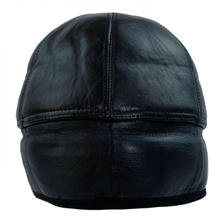 Kulaklıklı Siperli Kışlık Deri Şapka (Renk Siyah) - Ş061