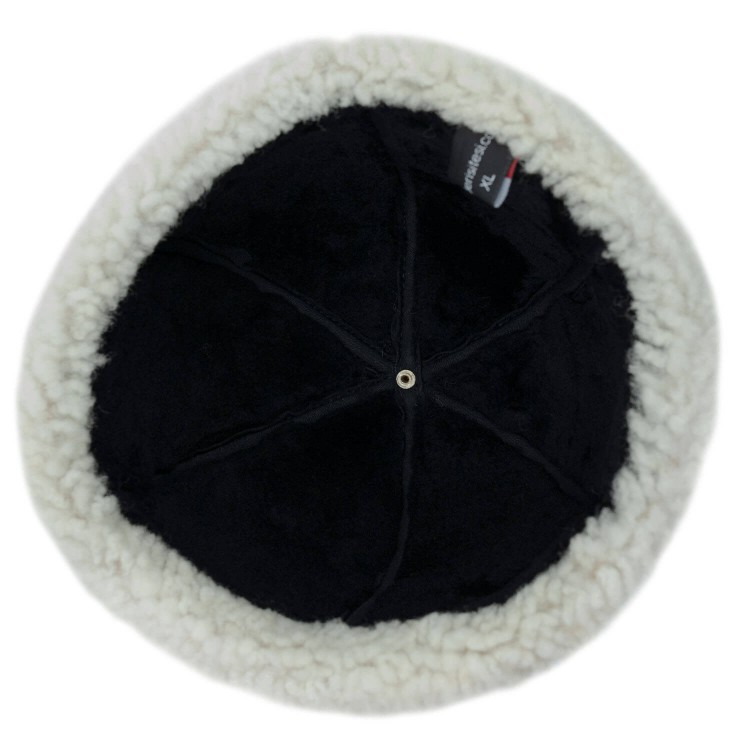 Beyaz Tüylü Serdar Deri Şapka, Kürklü Hakiki Deri Avcı Şapka - Ş070