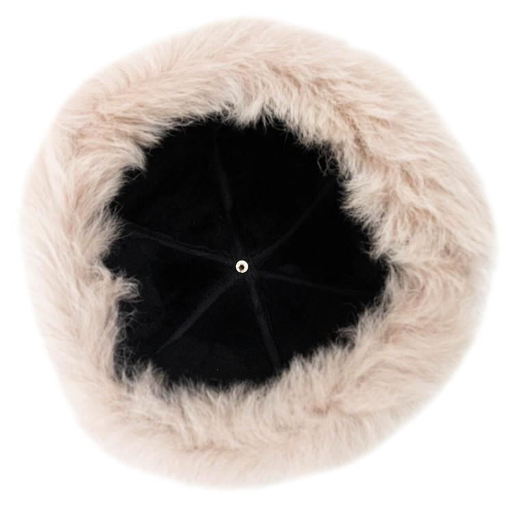 Çolpan Toskanalı İçi Koyun Kürklü Börk, Şapka Modelimiz - Vizon Rengi - Ş116