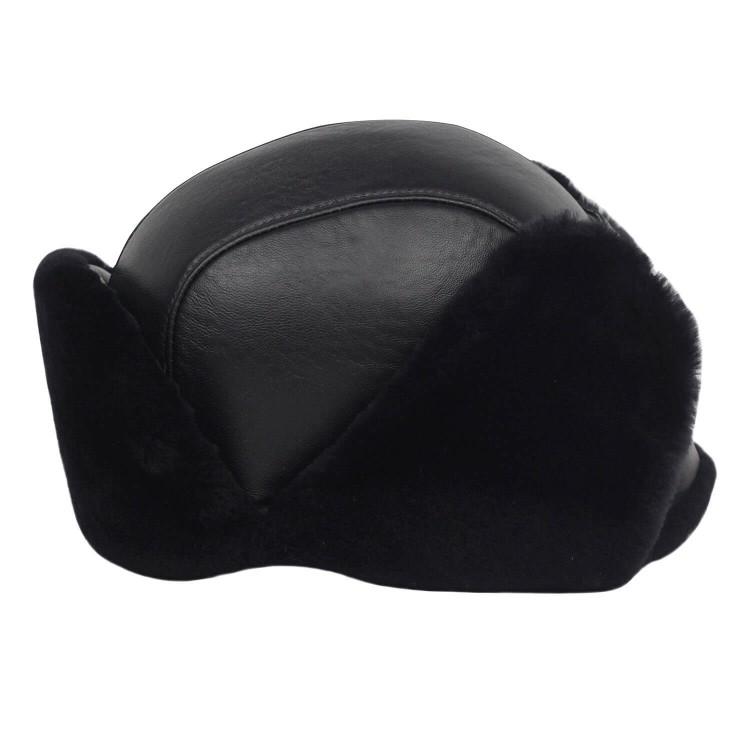 İçi Kürklü Tokalı Pilot Deri Şapka - Ş123