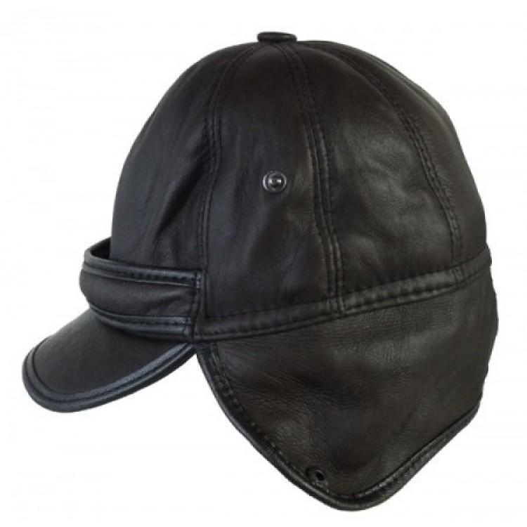 Kulaklıklı Unisex Kışlık Pilot Deri Şapka (Renk Siyah) - Ş061