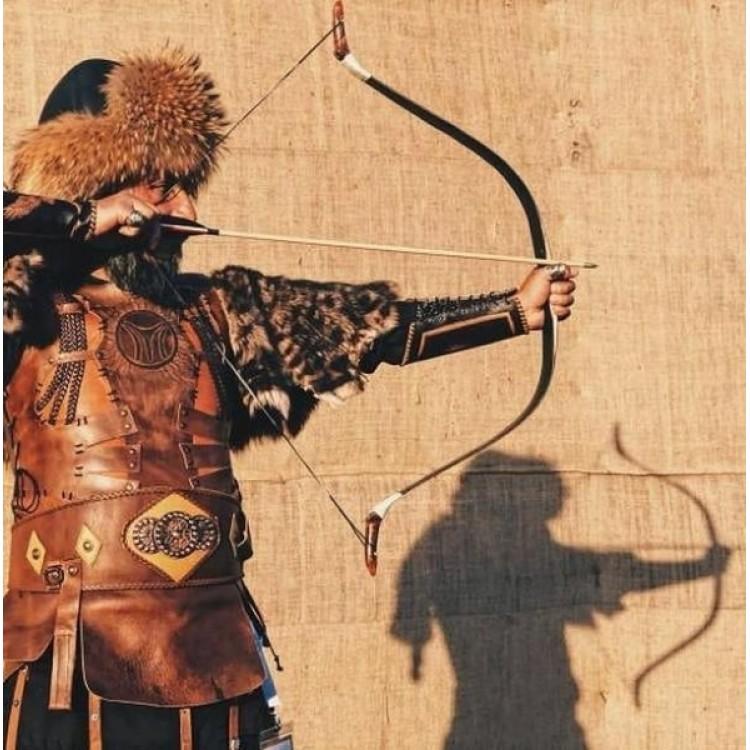 Savaşçı Kıyafeti Hakiki Dana Derisi Zırh Modelimiz - IYI Tamgalı