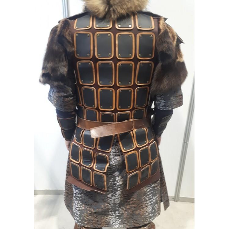 Moğol Savaşçı Zırhı - Hakiki Dana Derisi Zırh Modelimiz